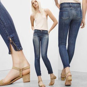 J BRAND | High Rise Ankle Zip Cropped Skinny Jeans